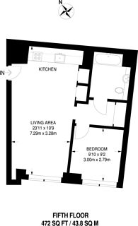 Large floorplan for Lillie Square, West Brompton, SW6