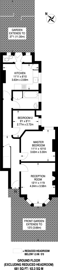 Large floorplan for Market Place, East Finchley, N2