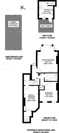 Large floorplan for Church Crescent, Muswell Hill, N10