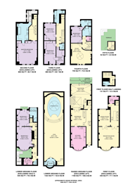 Large floorplan for Cheyne Place, Chelsea, SW3