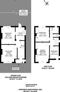 Large floorplan for Nathans Road, Wembley, HA0