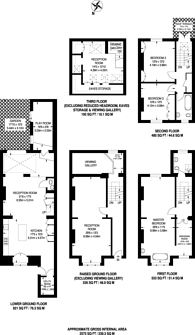 Large floorplan for Willoughby Road, Hampstead, NW3