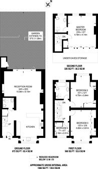 Large floorplan for Burntwood Lane, Earlsfield, SW17