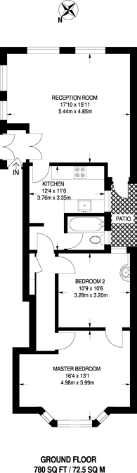 Large floorplan for Southlands Road, Bromley, BR2