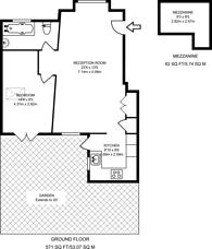 Large floorplan for Brunswick Avenue, Friern Barnet, N11