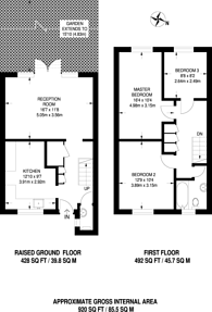 Large floorplan for Bow Common Lane, Bow, E3