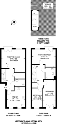 Large floorplan for Akerman Road, Oval, SW9