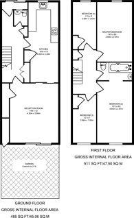 Large floorplan for Hogan Way, Clapton, E5