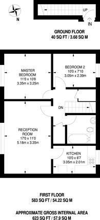 Large floorplan for Dollis Crescent, Eastcote, HA4
