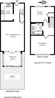 Large floorplan for Verwood Road, North Harrow, HA2