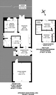 Large floorplan for Robin Lane, Holders Hill, NW4