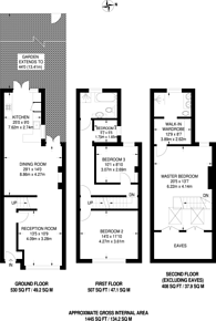 Large floorplan for Benhill Road, Sutton, SM1