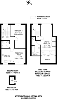 Large floorplan for Grittleton, Maida Vale, W9