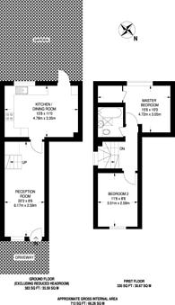 Large floorplan for Rayners Lane, Rayners Lane, HA2
