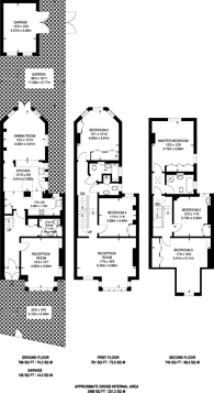 Large floorplan for Station Road, Barnes, SW13