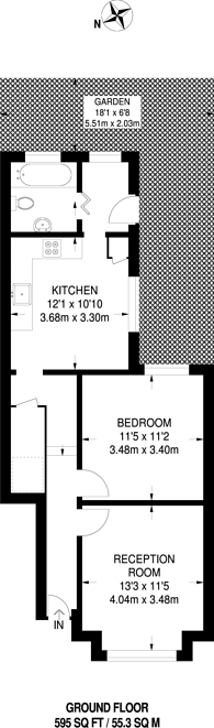 Large floorplan for Grenfell Road, Tooting, CR4