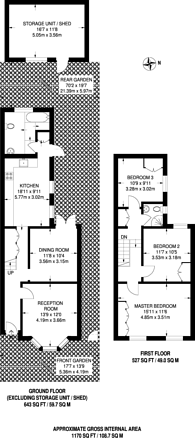 Large floorplan for Avenue Road, Forest Gate, E7