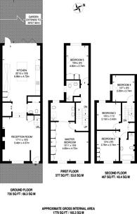 Large floorplan for Masbro Road, Brook Green, W14