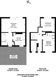 Large floorplan for West House Close, Southfields, SW19