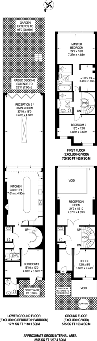 Large floorplan for Shepherds Hill, Highgate, N6