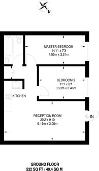 Large floorplan for Josephine Avenue, Brixton Hill, SW2