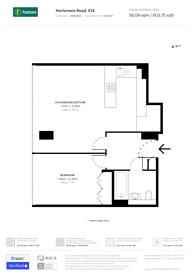 Large floorplan for West India Quay, Docklands, E14