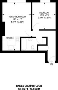 Large floorplan for Highbury New Park, Highbury, N5