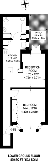 Large floorplan for Eustace Road, West Brompton, SW6