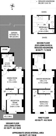 Large floorplan for Pridham Road, Thornton Heath, CR7