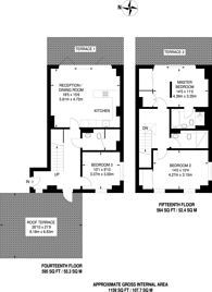 Large floorplan for Buckhold Road, Wandsworth, SW18