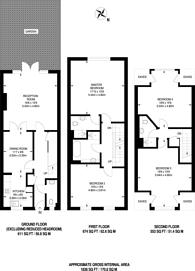 Large floorplan for Cottage Close, Harrow on the Hill, HA2