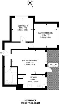 Large floorplan for Ayley Croft, Enfield, EN1