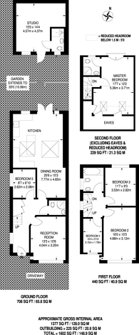 Large floorplan for Beresford Avenue, Hanwell, W7