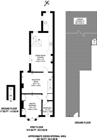Large floorplan for Totton Road, Thornton Heath, CR7