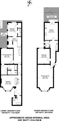 Large floorplan for Cromwell Road, Kensington, SW5