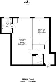 Large floorplan for Queens Road, Kingston, KT2