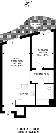 Large floorplan for Hoola, Royal Docks, E16