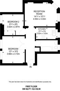 Large floorplan for Devonshire Street, Marylebone, W1W