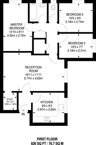 Large floorplan for Home Court, Surbiton, KT6