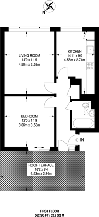 Large floorplan for Murray Mews, Camden, NW1