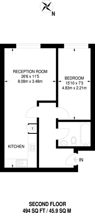 Large floorplan for Westow Street, Crystal Palace, SE19