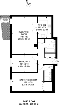 Large floorplan for Smugglers Way, Wandsworth, SW18