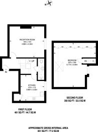 Large floorplan for Upper Richmond Road, West Putney, SW15