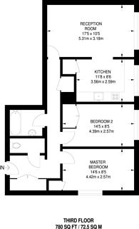 Large floorplan for Mildmay Street, Islington, N1
