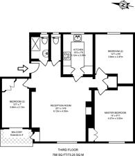 Large floorplan for Augustus Street, Regent's Park, NW1