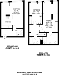 Large floorplan for Gainsborough Studios, Islington, N1