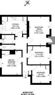 Large floorplan for Kenworthy Road, Hackney, E9