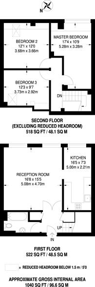 Large floorplan for Fox Lane, Palmers Green, N13