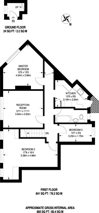 Large floorplan for Edenvale Close, Tooting, CR4