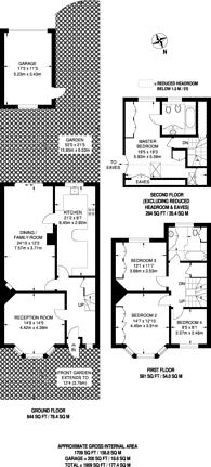 Large floorplan for Ashbourne Road, Tooting, CR4